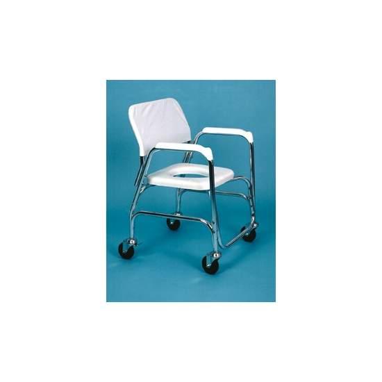 Silla par Ducha y WC de Aluminio - Fabricada en aluminio, es la solución económica para la higiene y el WC y para el traslado depersonas con movilidad reducida.