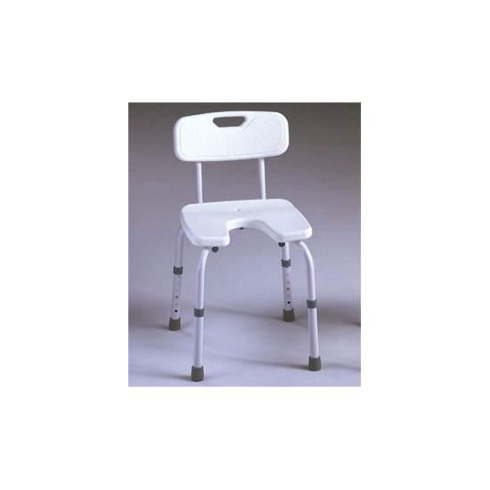 SAMBA SIÈGE U - Complet avec dossier de la chaise, spécialement conçu pour une utilisation dans la salle de bains.