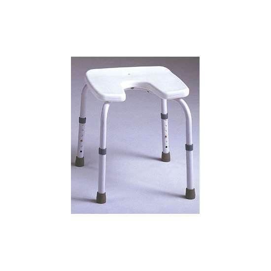 Taburete Samba Asiento en U - Taburete sin respaldo, especialmente diseñado para ser utilizado en el baño. El asiento tiene forma de herradura, para facilitar la higiene íntima