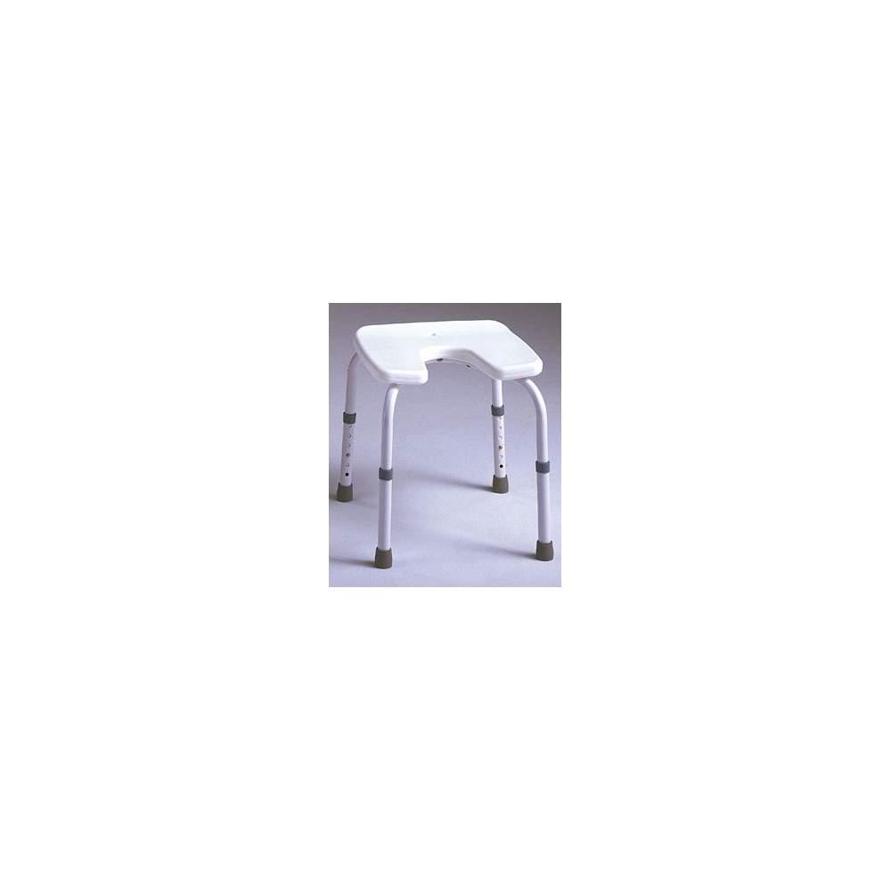 SAMBA selles siège U - Tabouret sans dossier, spécialement conçu pour être utilisé dans la salle de bains. Le siège en fer à cheval, afin de faciliter l'hygiène intime