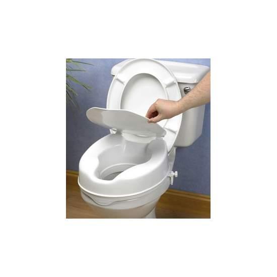 Soulever WC économique 10 cm avec couvercle -  10 cm ascenseur bouchon de levage économique, mais sûr et efficace est complètement plastique scellé qui résiste aux odeurs et aux taches.