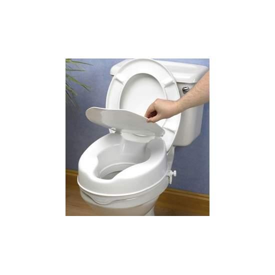 WC 15 centímetros de elevação com tampa -  Wc Elvador 15 cm com tampa de elevação económica, mas seguro e eficaz é totalmente de plástico selado que resiste odores e manchas.