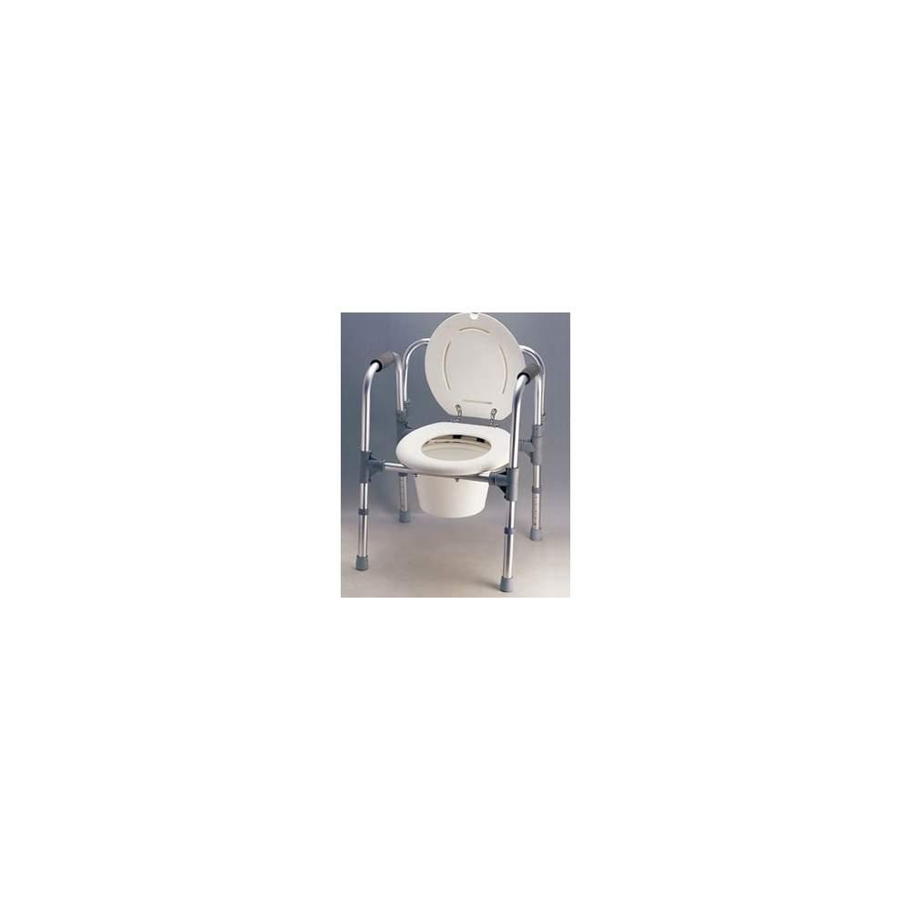 WC Ascenseur bras et le dos - Peut être utilisé comme ascenseur hauteur WC réglable en tant que président de toilette pour chambre (équipée avec anse de seau) et comme support auxiliaire pour le WC (comme...