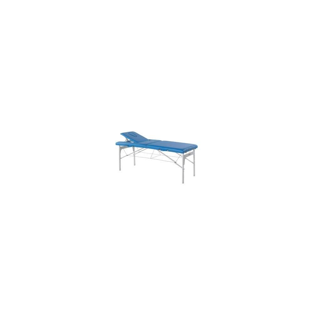 Folding stretcher with aluminum legs