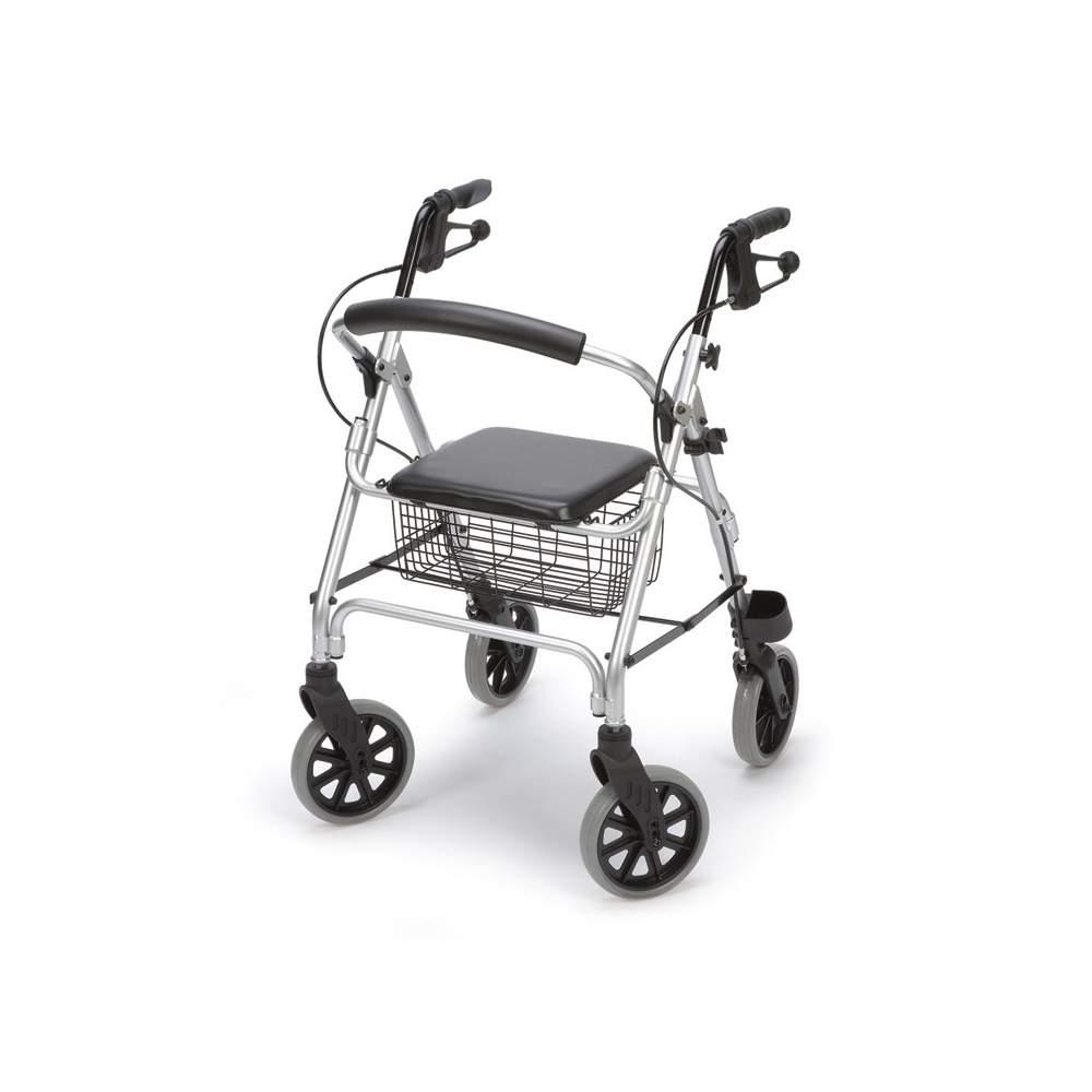Andador de aluminio rolator Ergo - Andador rolator Ergo aluminio AD150