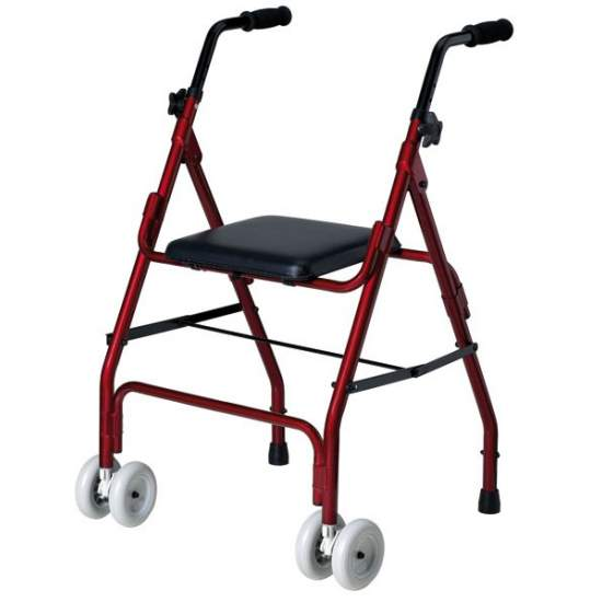 Mini alluminio walker roler - Mini in alluminio pieghevole walker roler.  Codice 12060003 disposizione