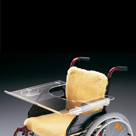 AD812 transparent Mesita - Mesita Wheelchair transparent