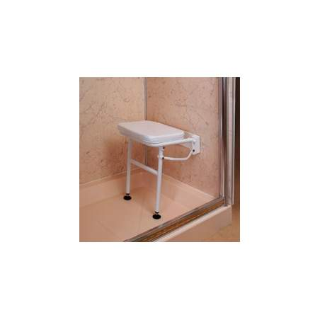 Folding shower chair with legs and padded seat
