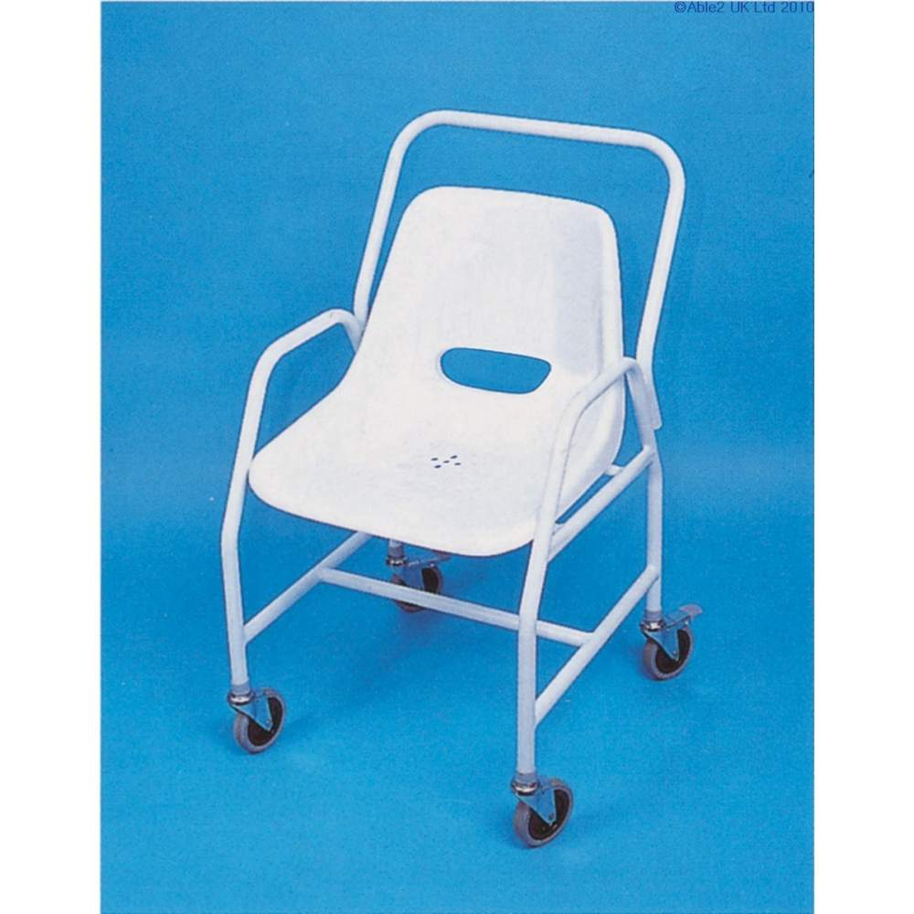 Fixed mobile shower chair