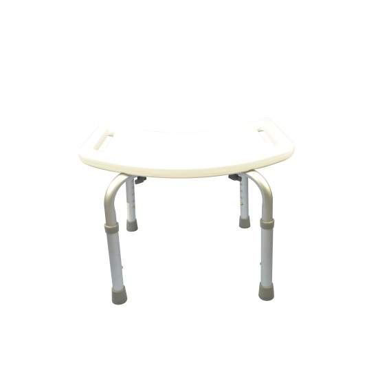Aluminum shower stool height adjustable backless - Aluminum shower stool height adjustable backless