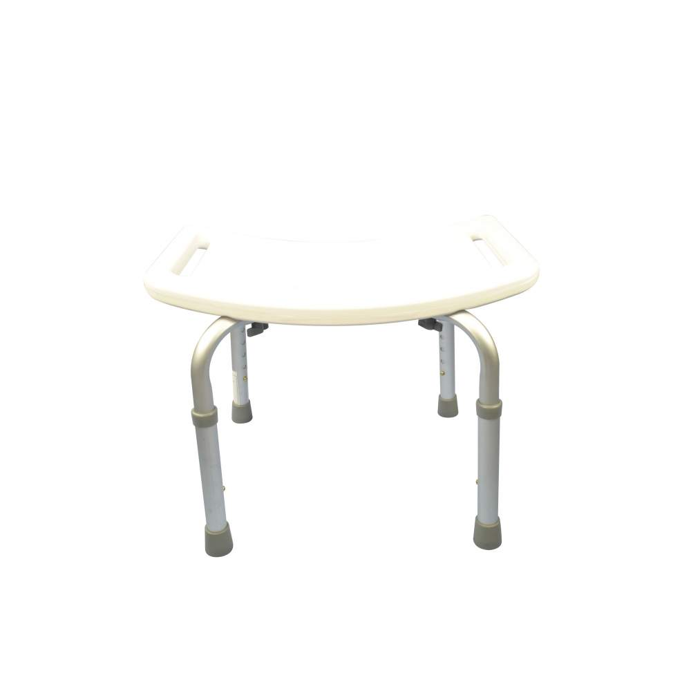 Aluminum shower stool height adjustable backless