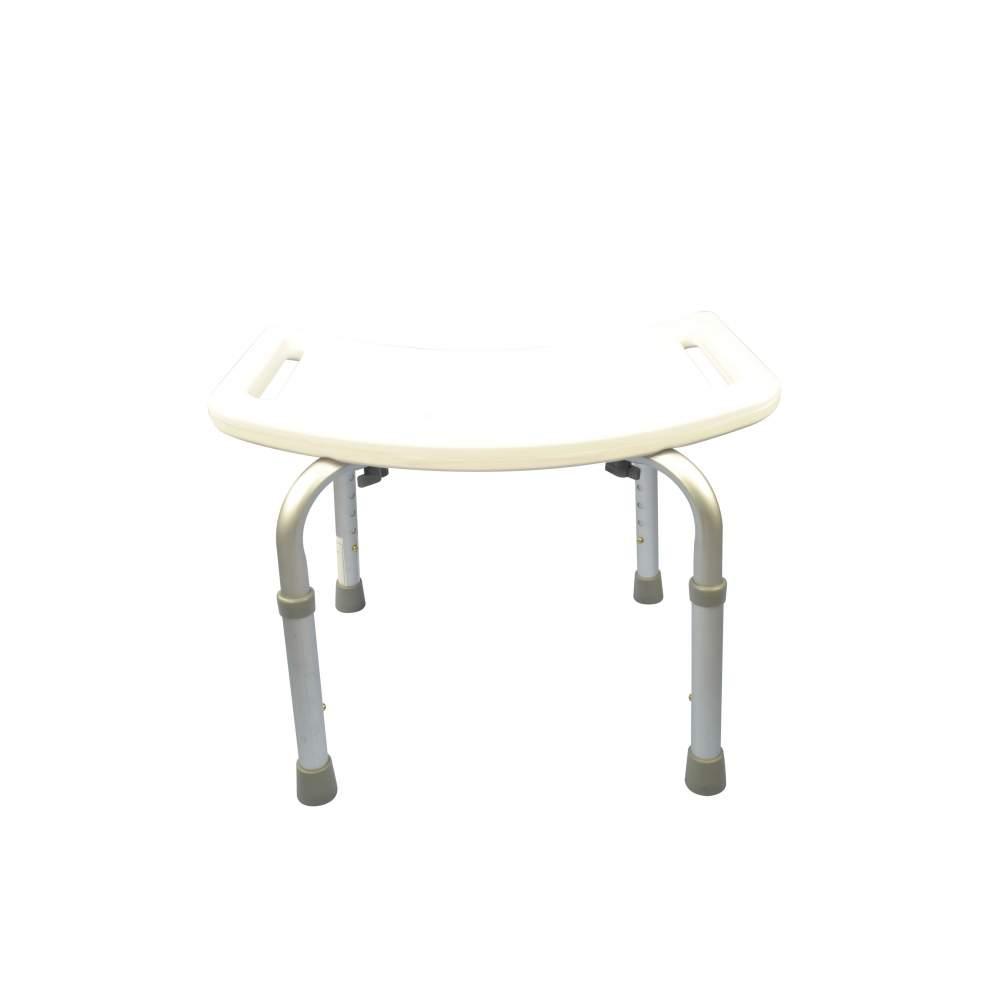 Doccia in alluminio sgabello senza schienale regolabile in