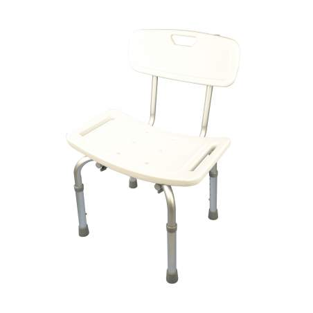 Aluminum shower stool with backrest height adjustable
