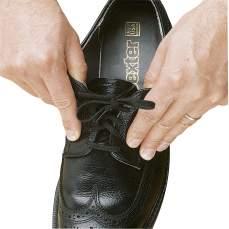 Elastic shoe laces. Black 94cm