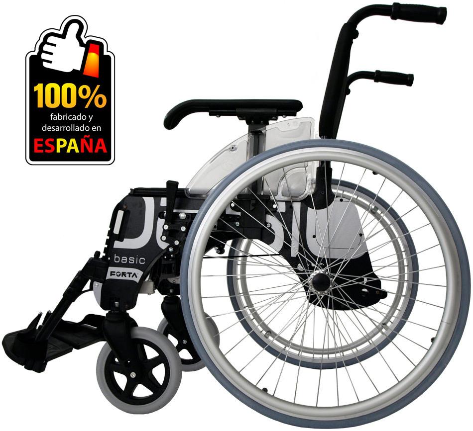 Silla de ruedas BASIC ruedas pequeñas 600 mm