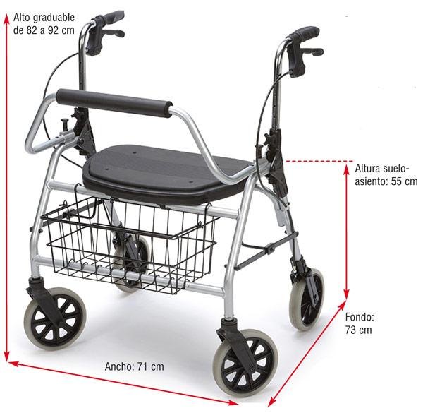 Maxi Rolator de hasta 200 kg